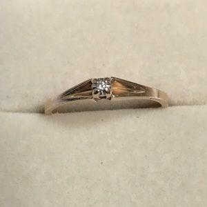 Jewelry - 🤩🤩On sale now!!14k Gold Diamond Ring!!👈👀💖😍